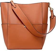 Kattee Hobo Bags for Women, Genuine Leather Tote Purses and Handbags Shoulder Bucket Bags