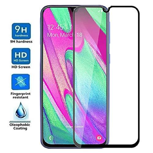REY Protector de Pantalla 3D para Samsung Galaxy A40, Negro, Protección Completa, 3D / 4D / 5D