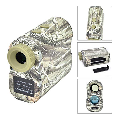600m Teleskop-Entfernungsmesser, Tarnteleskop-Entfernungsmesser für Jagd, Bogenschießen, Entfernungsmesser Rangfinder(A)
