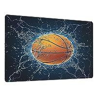 超大型マウスパッド ゲーミング、バスケットボールボール、かわいい防水 滑り止めベース、ステッチエッジ、コンピューターとデスク用の超滑な表面