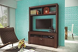 Ditalia Wooden TV Entertainment Unit With Two Doors for 55 inch TV - Brown