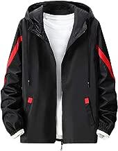 Uqiangy Men's Casual Fashion Loose Lightweight Hoodie Sport Waterproof Outwear Windbreaker