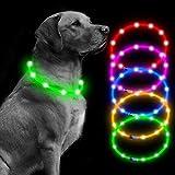 Collar de perro LED recargable micro USB para perros, collar de perro iluminado para perros (verde)