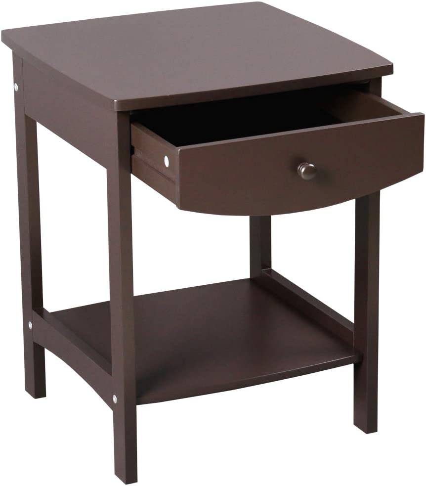 Anyter Simple Ranking TOP3 Square Side Coffee Table Claire Accent Wood Detroit Mall