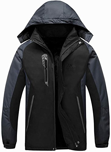 SJZC Veste Coupe Homme Ski Manteau Hommes Blouson De Impermeable Vent Pas Cher Hivers Pluie SurveteHommest029,noir,2XL