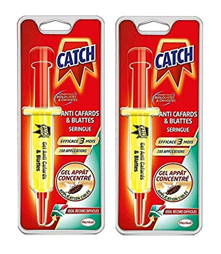 CATCH-LOT DE 2 seringues - Gel Anti cafards- Insecticide