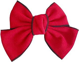 SOIMISS Grampo de cabelo de pelúcia elegante com laço, laços de cabelo, acessórios de cabelo para mulheres e meninas