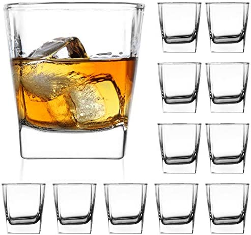Heavy Base Whiskey Glasses 8 ounce Set QAPPDA Rock Glasses Whiskey Shot Glasses For liqueur product image