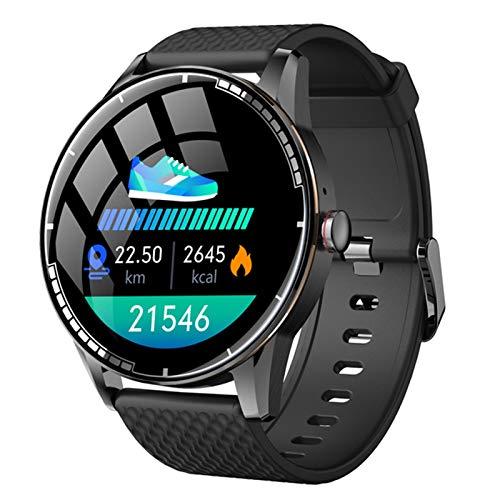 ZRY H6 Smart Watch Bluetooth Call Smart Watch Reproductor de música Ritmo cardíaco Presión Arterial Fitness Deportes Pulsera para Android iOS,B