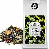 """""""Green"""" Ice Tea Bio en Vrac - Thé glacé saveur Pomme et Gingembre – Thé Vert avec Citronnelle - 100 Grammes (environ 40 Tasses) par alveus Premium Teas"""