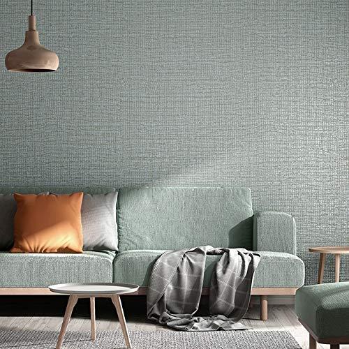 jidan Einfacher einfache Metallic Grasscloth strukturierte Tapeten Dinning Raum Schlafzimmer Hintergrund Wand-Papier-Blau, Grün, Beige (Color : J04506, Dimensions : 10mx53cm)
