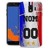 MACOQUEPERSO Coque Samsung J4 2018 Foot France/Supportez Les Bleus / J4 Plus 2018 /...