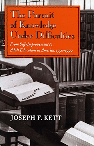Pursuit Of Knowledge Under Difficulties From Self Improvement To Adult Education In America