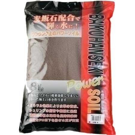 ソネケミファ 麦飯石パワーソイル 大粒 茶 8L