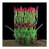 Wtbhd Las Plantas de Acuario 36cm 3color Plantas Artificiales de plástico Fish Tank Decoración del Ornamento de Seguridad for Todos los Peces (Color : Red, Size : 36cm)
