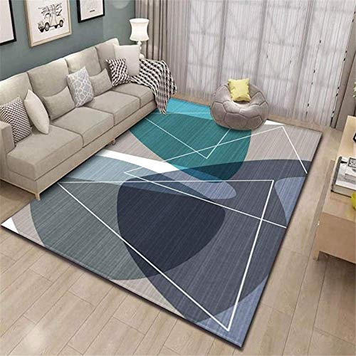 XTUK Home Decoration Carpet Modern Style Rugs Non Slip Carpet Home Accessories In Geometric Pattern In Soft Touch Bed Rugs Parlor Decor Area Rug Large Living Room Rug 60 * 90cm