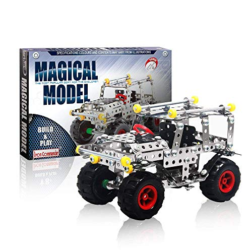 Iron Commander STEM Jeep Building Toy Kit - Erector Set Model Kit, Metal Building Set, Steam Education Toy for Boys & Girls Age 8 and Up - 251 Parts