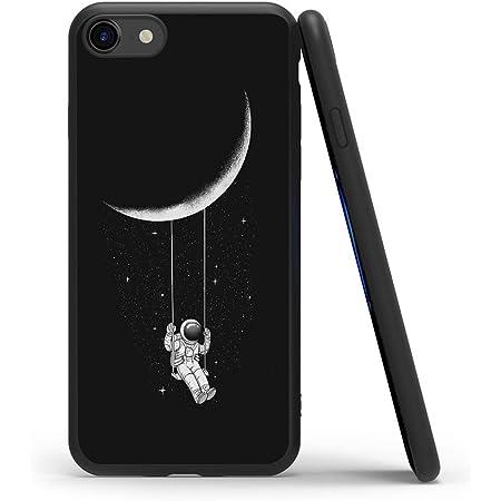 Yoedge Cover iPhone SE 2020, Antiurto Custodia Nero Silicone TPU con Disegni Pattern Ultra Slim Protective Bumper Case per Apple iPhone 7 / iPhone 8 / ...
