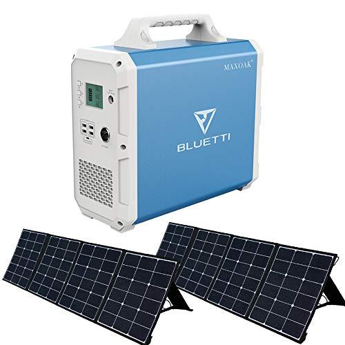 BLUETTI B240 大容量 ポータブル電源 2400WH 240W ソーラーパネル(2枚) 太陽光発電 節電 非常用 停電 災害時 車中泊 アウトドア キャンプ 熱中症対策 電動工具 テレワーク 扇風機/冷蔵庫/エアコンなどの夏用家電に対応可