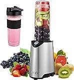 Aicok Mini Blender Portable Blender Smoothie Mélangeur de Fruits pour Smoothie, Milk-shake,Jus de Fruits, Mixeur Electrique Multifonction de 600 ml, Sans-BPA et Corps en Inox (Silver)