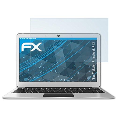 atFolix Schutzfolie kompatibel mit Trekstor Primebook P13 Folie, ultraklare FX Bildschirmschutzfolie (2X)