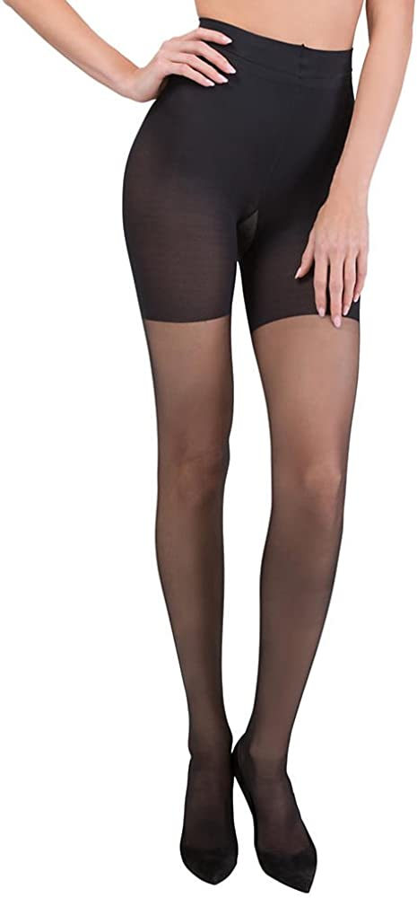ASSETS Red Hot Label by SPANX Firm Control Shaping Pantyhose Short Sheers Underwear Shorts