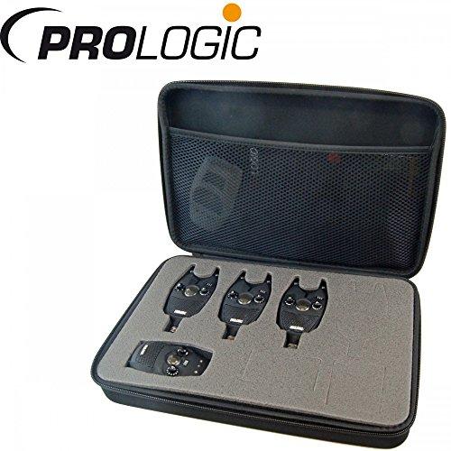 Prologic SNZ Bite Alarm Kit 3+1 - Funkbissanzeiger Set zum Karpfenangeln, Bissanzeiger für Karpfen, Karpfenbissanzeiger
