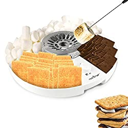 professional NutriChef S'mores Maker Station Set-Electric Marshmallow Melting Machine …