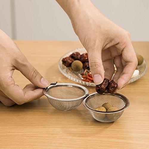 Roestvrijstalen bol Spice thee bal thee-ei isolatie ervaren bal thee bal soep en halogeenvrij tijdschrift keuken specerijen bal A