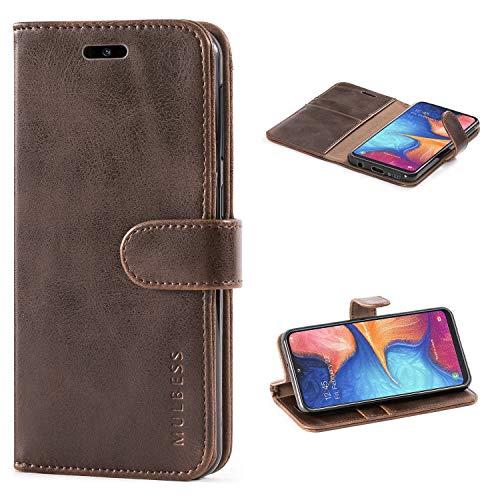 Mulbess Handyhülle für Samsung Galaxy A20e Hülle, Leder Flip Hülle Schutzhülle für Samsung Galaxy A20e Tasche, Vintage Braun