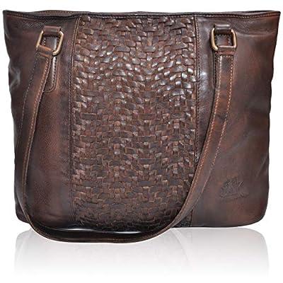 Leather Shoulder Purse for Women- Medium Premium Over the Shoulder Luxury Premium crossbody Ipad (Brown Washed)