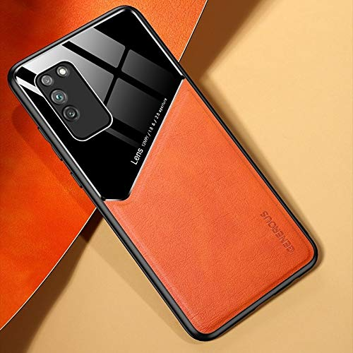 LWL House Caso para Huawei Honor X10 5G Cuero Todo Incluido + Funda Protectora de Vidrio orgánico con Chapa de Hierro metálico (Color : Yellow)