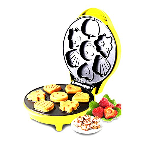 Waffeleisen, Haushalt Mini Karikatur Kuchenmaschine Doppelseitig Gleichmäßige Heizung Komplett automatisch Frühstück/Dessert/Nachtigall Kuchenmaschine, Antihaft-Beschichtung, 640W