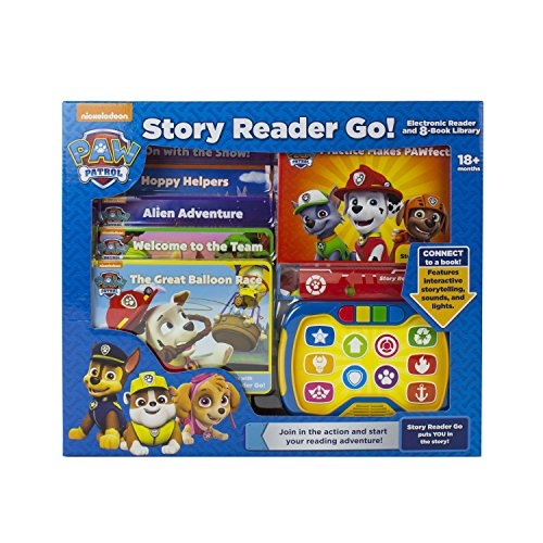 Nickelodeon PAW Patrol Chase, Skye, Marshall, and More! - Story Reader Go Electonic Reader and 8-Book Library - PI Kids