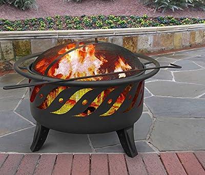 Landmann USA 23172 Patio Lights Firewave Firepit, Black