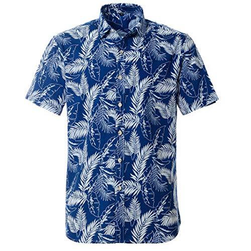 Jinyuan Camisa Hawaiana Summer Beach Camisa de diseño de im