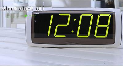 ZHAOHUIFANG Reloj Despertador Digital Moda LED Reloj Despertador Electrónico Despertador Silencioso Noche Luz Escritorio Mesa Tamaño