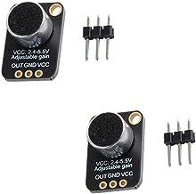 تقویت کننده میکروفن الکترونی 2pcs، سنسور Bucking GY-MAX4466 با کنترل افزایش قابل تنظیم برای Arduino WIshioT