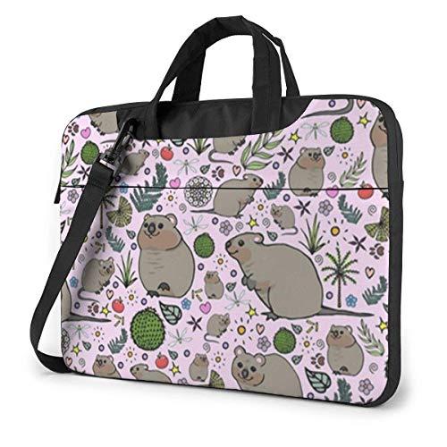 Cute Hamster and Plant Laptop Bag Shoulder Messenger Bag Computer Tote Briefcase for Work School