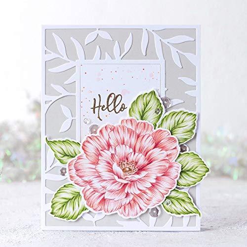 Blüte Große Pfingstrose Blume Transparent Stempel Clear Stamps für DIY Scrapbooking Papier Karten Machen Dekorative Bastelbedarf Blätter []