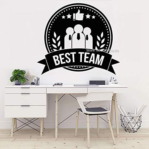 Wopiaol Teamwork Logo Vinyl muurtattoo Job Medaille Beste teamwerk kantoor muurdecoratie sticker muurkunst behang uniek geschenk