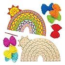 Baker Ross AW420 Rainbow Wooden Threading Kits (Pack of 4)