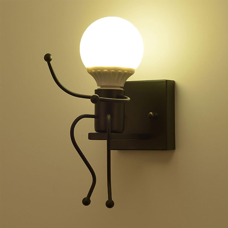 Unbekannt CHENGYI Wandlampe, Einfache Moderne Schlafzimmer Nacht Kreative Persnlichkeit Wand Lampe Gang Korridor Kinderzimmer Dekoration Nachtlicht 26  16 cm (Farbe   schwarz)