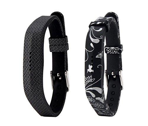 Cinturino di ricambio per Fitbit Flex 2, classico cinturino in metallo morbido in silicone o fibbia cinturino da polso per cinturino cassa per fitness activity tracker