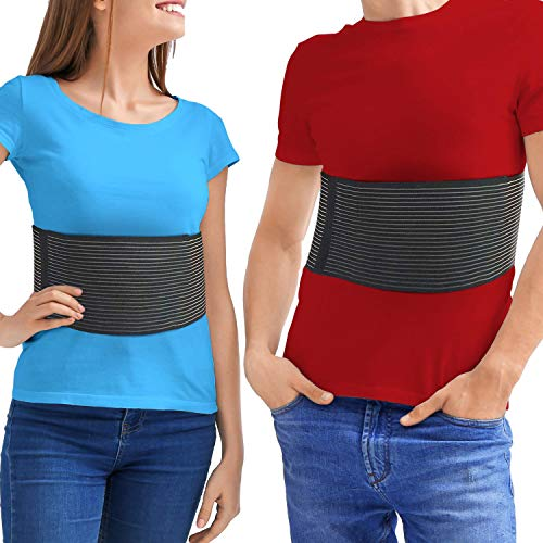 ChestBinder Rib Brace – Rib Belt to Reduce Rib Cage Pain. Chest Compression Support for Rib Muscle Injuries, Bruised Ribs or Rib Flare. Breathable Chest Wrap Breast Binder for Women or Men (Small/Med)