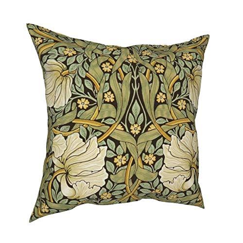 Uliykon William Morris Pimpernel - Fundas de cojín decorativas para sofá, dormitorio, coche, con cremallera invisible, 45,7 x 45,7 cm