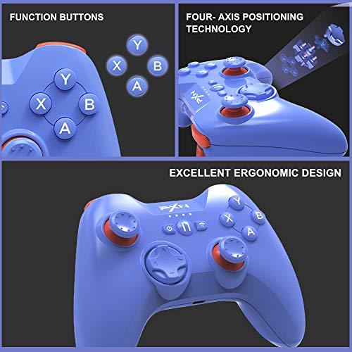 MFI Game Controller für iPhone PXN Speedy (6603) iOS Gaming Controller für Call of Duty Gamepad mit Phone Clip für Apple TV, iPad, iPhone (blau)
