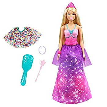Barbie Dreamtopia 2-in-1 Princess to Mermaid Fashion Transformation Doll  Blonde 11.5-in  with 3 Looks and Accessories for 3 to 7 Year Olds