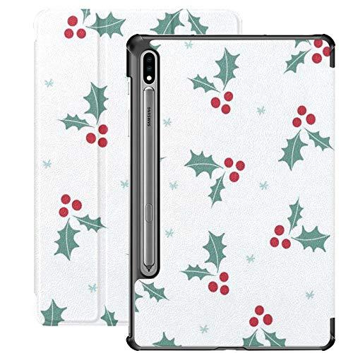 Compatible avec la tablette Galaxy S7 Plus 12,4 pouces étui 2020 avec porte-stylo S, étui de protection folio de protection mince pour Noël et nouvel an pour Samsung