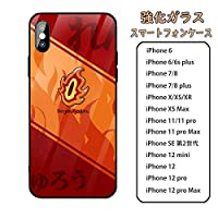 鬼滅の刃 Demon Slayer iPhoneXR IPHONE XR ケース スマートフォン 強化ガラスケース 鏡面ガラス ハードケース 携帯電話ケース 強化 ガラス 携帯カバー 耐衝撃 スマホケース アイフォン スマホカバー カバー コスプレ (09)
